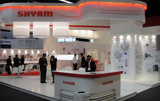 Shyam's Booth at Mobile World Congress 2011.