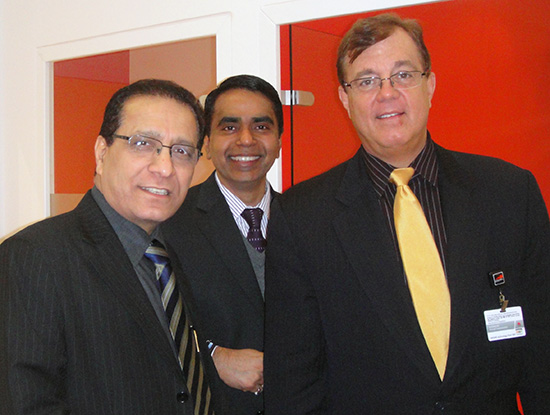 Ravi Ailawadhi, CEO of Shyam Networks, with Vishesh Gupta, EVP of Sales, and Jim Riley, Head of American Sales